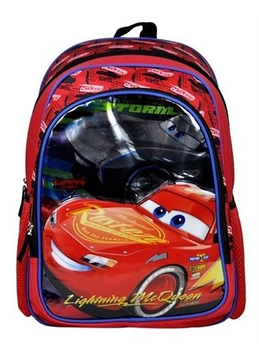 Hakan Çanta Cars İki Gözlü Erkek Çocuk İlkokul Çantası 96660 Renkli
